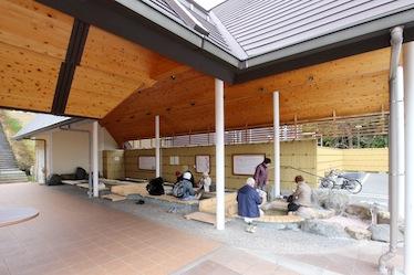 おごと温泉観光公園 足湯施設 改築工事